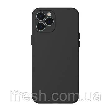 Чехол Baseus для iPhone 12 Pro Max Liquid Silica Gel, Classic black (WIAPIPH67N-YT01)