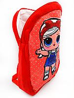 Рюкзак дитячий для дівчинки LOL (червоний), фото 2