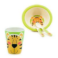 Детский набор посуды Fissman Тигренок FS-8355 4 предмета