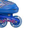 Роликові ковзани Nils Extreme NJ4613A Size 38-41 Blue, фото 4