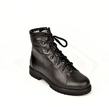Подростковые ботинки на мальчика кожаные зимние черные
