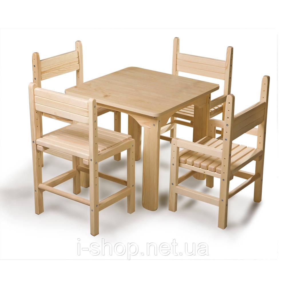 SportBaby Дитячий стіл і стілець сосновий