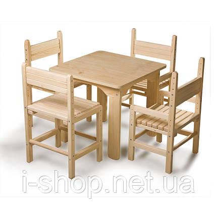 SportBaby Дитячий стіл і стілець сосновий, фото 2