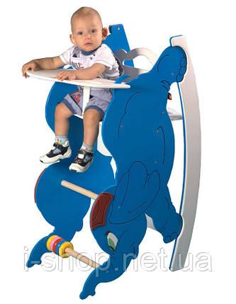 SportBaby Стульчик для кормления  с качалкой и столиком - Слоник, фото 2