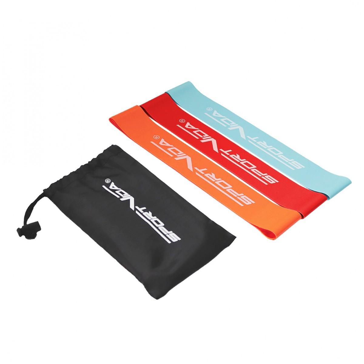 Резинка для фитнеса и спорта (лента-эспандер) SportVida Mini Power Band 3 шт 0-15 кг SV-HK0205-1