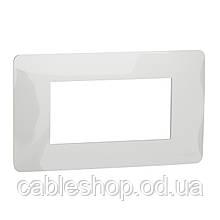 Рамка 4-модульна, білий
