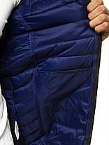 Чоловіча куртка J. Style синього кольору стьобана з капюшоном, фото 2