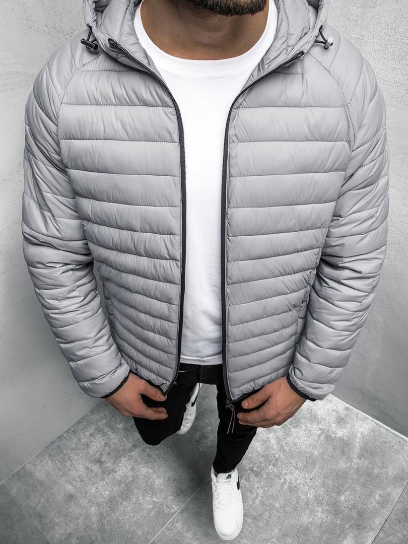 Мужская куртка J.Style серого цвета стеганая с капюшоном
