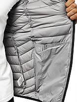 Мужская куртка J.Style серого цвета стеганая с капюшоном, фото 3