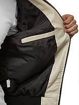 Чоловіча куртка з екошкіри бежевого кольору, фото 2