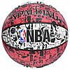Мяч баскетбольный Spalding NBA Graffiti Outdoor White/Red Size 7, фото 3