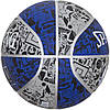 Мяч баскетбольный Spalding NBA Graffiti Outdoor Grey/Blue Size 7, фото 2