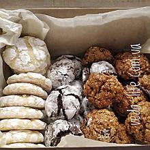 Набір натурального печива XXL: Мраморне Лимонне, шоколадне Брауні, Вівсяне з горіхами й журавлиною, 450 грамів