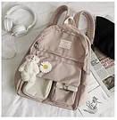 Рюкзак для девочки школьный, водонепроницаемый цвета пудры с ромашкой  Rentegner., фото 2