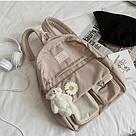 Рюкзак для девочки школьный, водонепроницаемый цвета пудры с ромашкой  Rentegner., фото 3