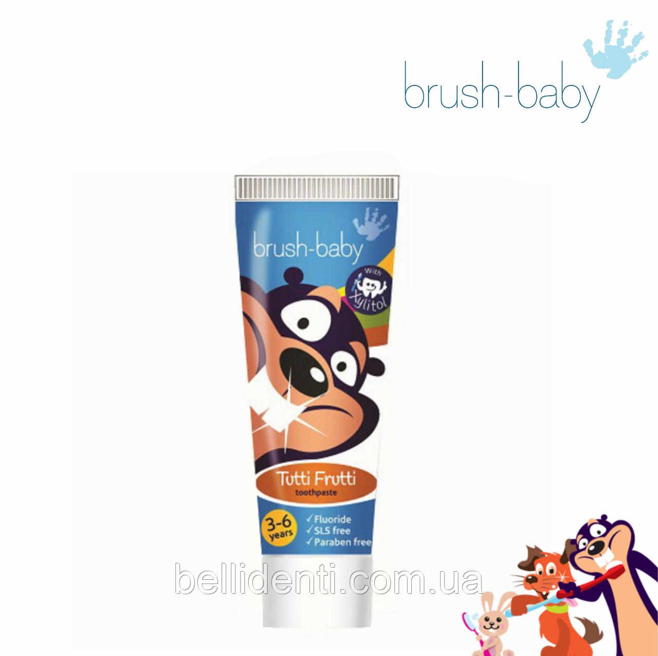 Зубная паста для детей Brush-Baby с Xylitol (3-6) фтор 1350 ppm, 50мл