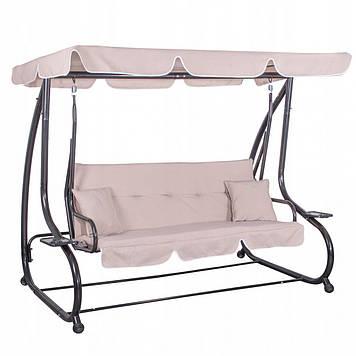 Гойдалки-диван садові з навісом Springos Venezia GS0006