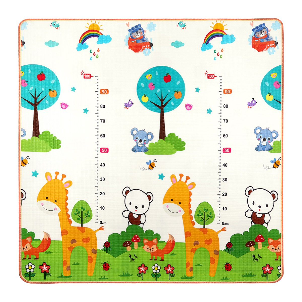 Розвиваючий дитячий килимок двосторонній 4FIZJO KIDS 180 x 180 x 1 см 4FJ0161