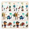 Розвиваючий дитячий килимок двосторонній 4FIZJO KIDS 180 x 180 x 1 см 4FJ0161, фото 2
