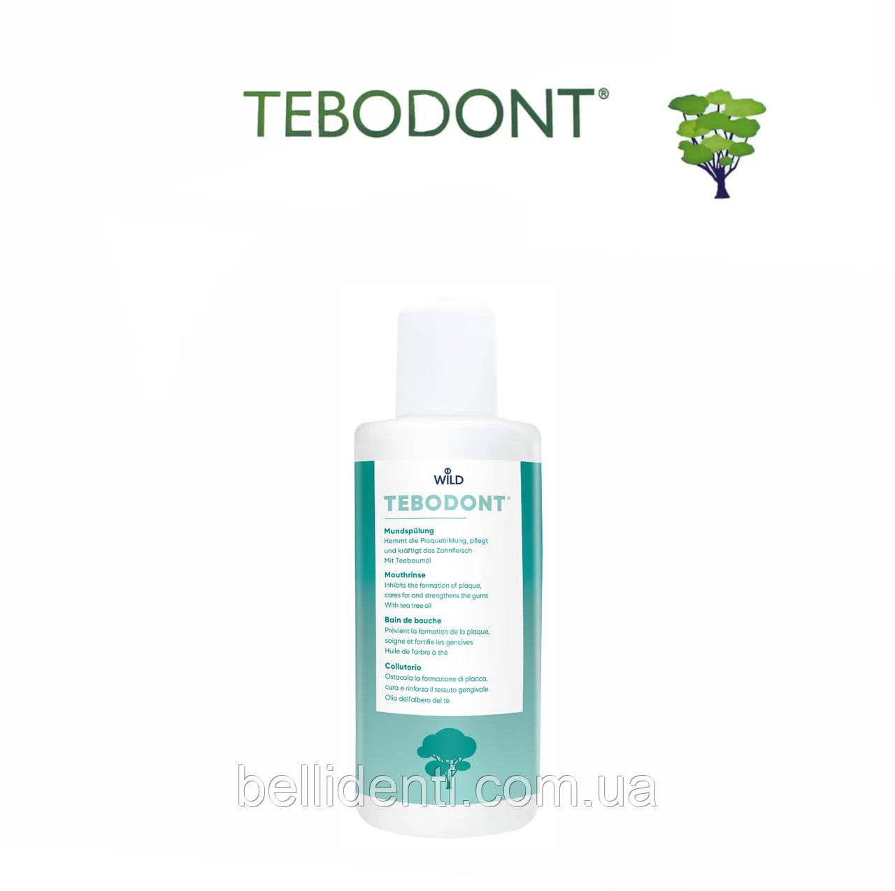 TEBODONT Ополаскиватель для полости рта с маслом чайного дерева (Melaleuca Alternifolia), без фторида, 400 мл