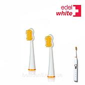 Сменные насадки Dual Clean для электрической зубной щётки Edel+White Sonic Generation (Ultra Soft), 2 шт.