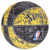 Мяч баскетбольный Spalding NBA Graffiti Outdoor Grey/Yellow Size 7, фото 4