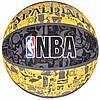 Мяч баскетбольный Spalding NBA Graffiti Outdoor Grey/Yellow Size 7, фото 5