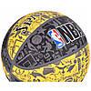 Мяч баскетбольный Spalding NBA Graffiti Outdoor Grey/Yellow Size 7, фото 6