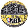 Мяч баскетбольный Spalding NBA Graffiti Outdoor Grey/Yellow Size 7, фото 7