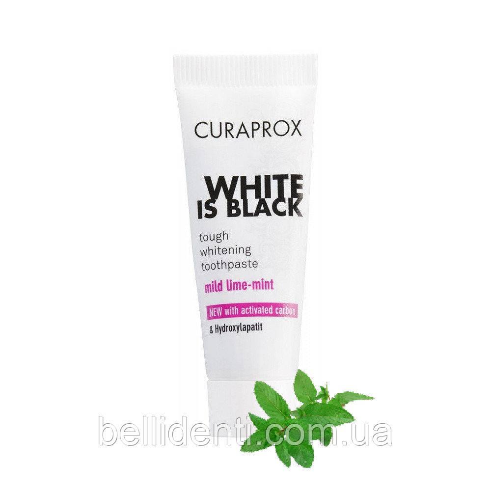 Зубная паста Curaprox White is Black (мята), 10 мл