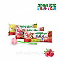 Леденец Zdrowy Lizak Mniam-Mniam (малина), 1 шт