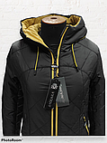 "Молодіжна подовжена зимова куртка ""Еврика"", чорна, фото 2"