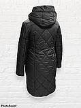 "Молодіжна подовжена зимова куртка ""Еврика"", чорна, фото 4"
