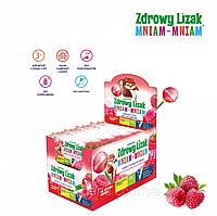 Леденец Zdrowy Lizak Mniam-Mniam (малина), 40 шт