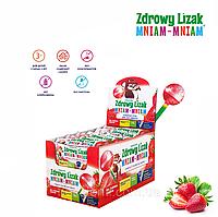 Леденец Zdrowy Lizak Mniam-Mniam (клубника), 40 шт