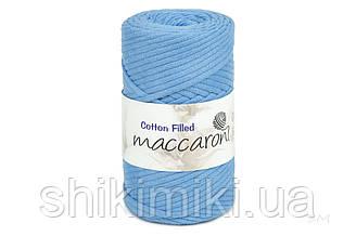 Трикотажный хлопковый шнур Cotton Filled 5 мм, цвет Небесный