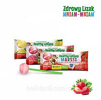 "Леденец Zdrowy Lizak ""Mniam-Mniam"" (клубника), 1 шт"