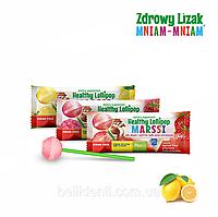 Леденец Zdrowy Lizak Mniam-Mniam (лимон), 1 шт