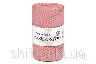 Трикотажный хлопковый шнур Cotton Filled 5 мм, цвет Чайная роза