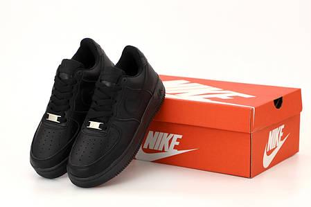 Мужские кроссовки Nike Air Force черного цвета, фото 2