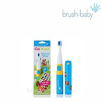 Детская электрическая зубная щетка с наклейками Brush-Baby Go-Kidz ( от 3 лет), фото 1