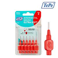 Межзубная щетка TePe Extra Soft, красная (0,5 мм),  6 шт., фото 1