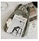 Рюкзак для девочки школьный, водонепроницаемый цвета хаки с ромашкой Rentegner., фото 6