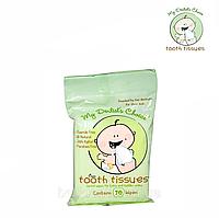 Салфетки стоматологические Tooth Tissues, My Dentist's Choice для десен и зубов младенца, 30 шт.