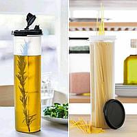 Tupperware набор компактусы для масла и спагетти с черной крышкой 1.1л