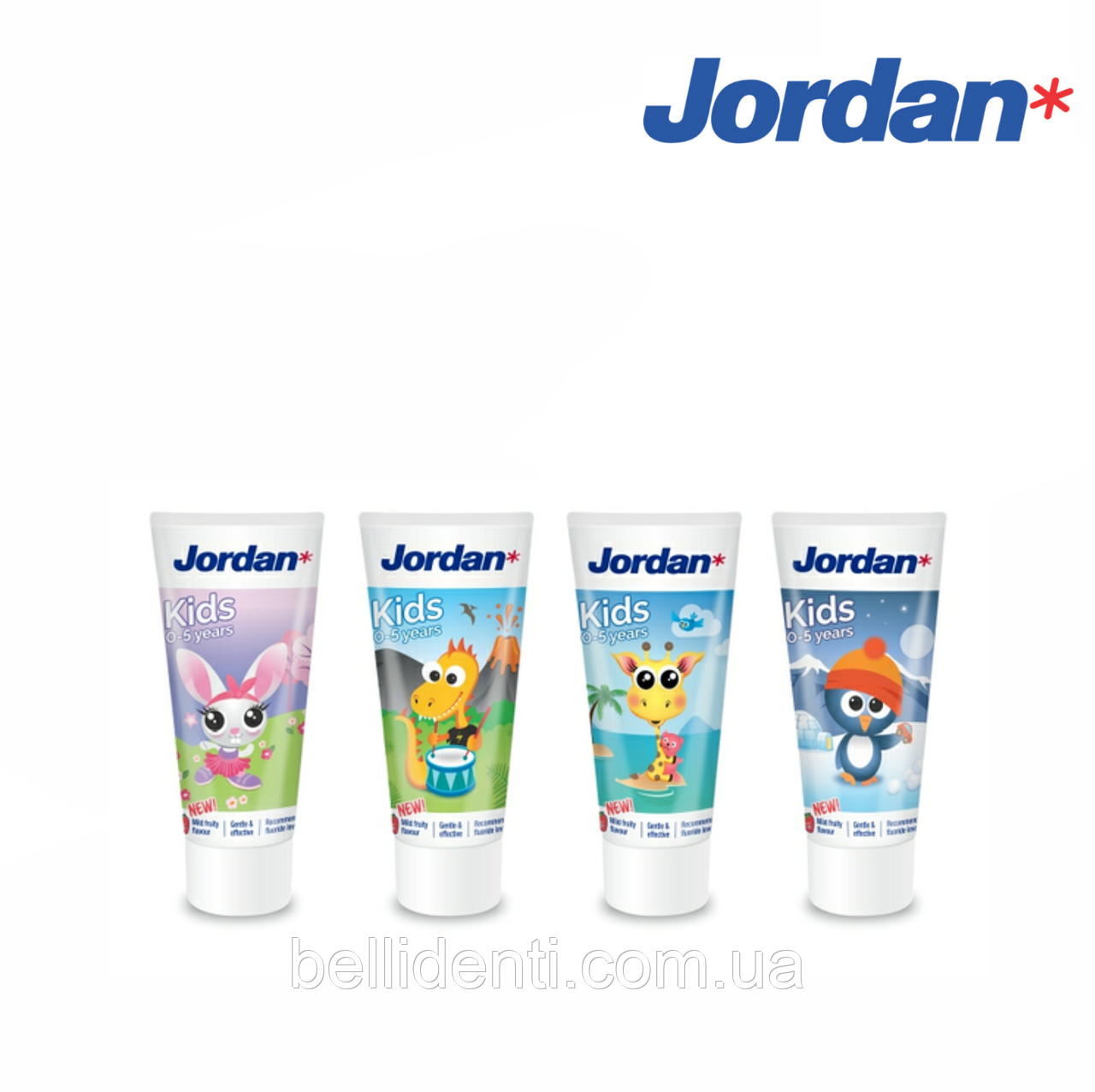 Детская зубная паста Jordan Kids 0-5 лет, 50 мл