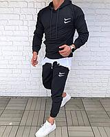 Спортивный костюм мужской Nike double весенний осенний черный   Комплект Найк Кофта + Штаны ТОП качества