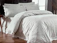 Комплект постельного белья Maison D'or Les Azzures Ecru-Ecru сатин 220-200 см кремовый