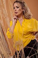 Жіноча стильна сорочка з V-подібним декольте
