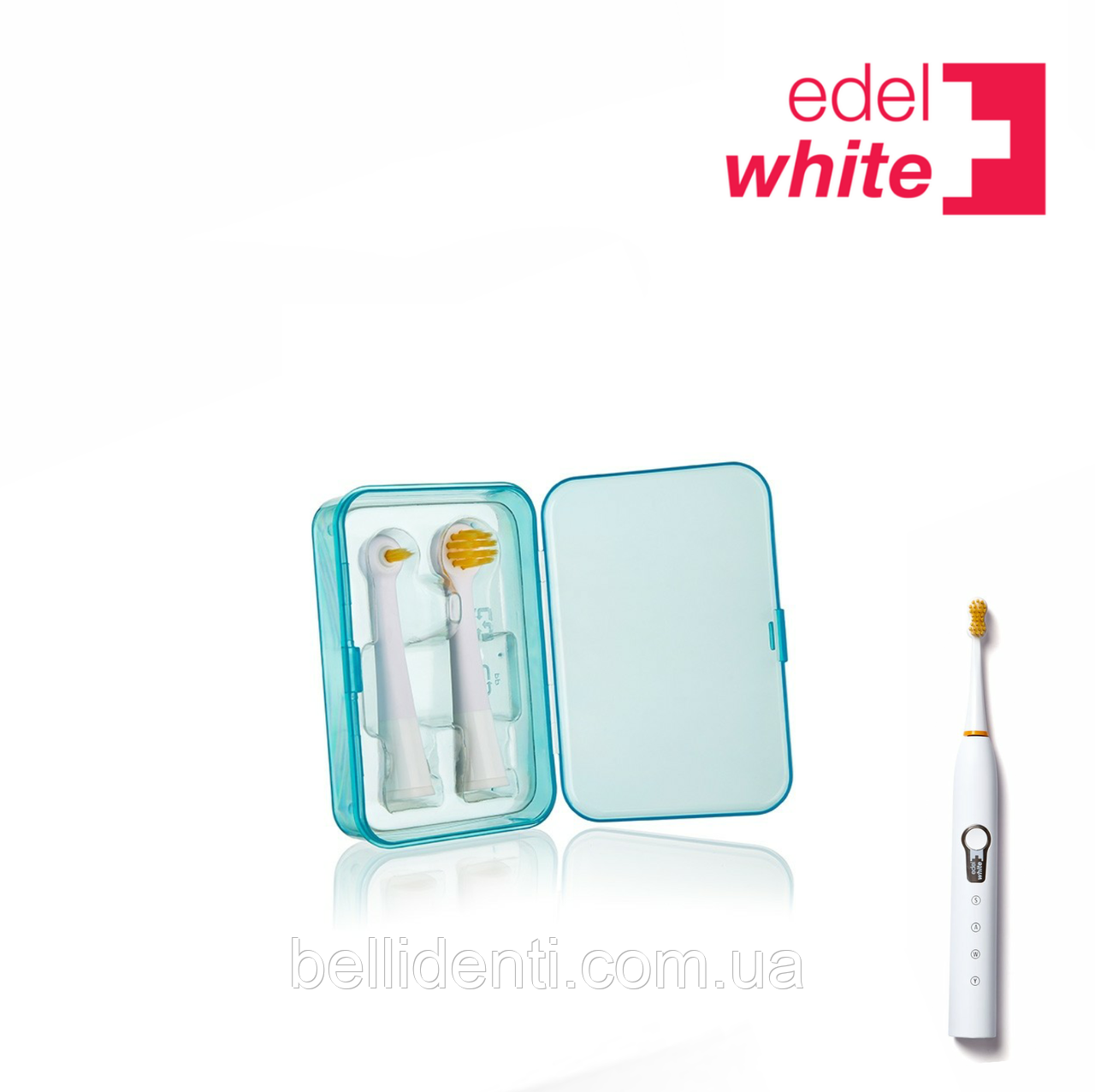 Сменные ортодонтические насадки Target і Focus Edel+White для зубной щетки Sonic Generation (мягкие), 2 шт.